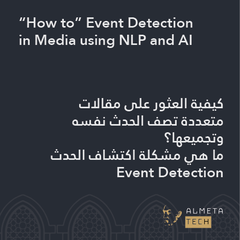 Event Detection in Media using NLP and AI