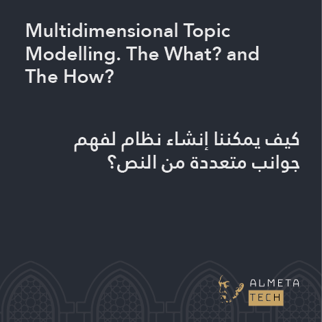 Multidimensional Topic Modelling. The What? and The How?